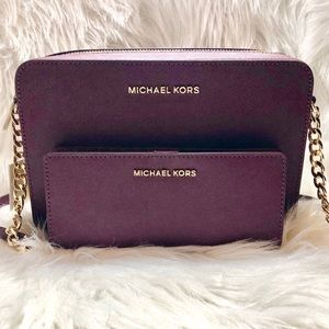 Michael Kors Crossbody and Wallet Bundle